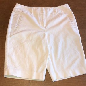 DANA BUCHMAN Signature White Bermuda Shorts